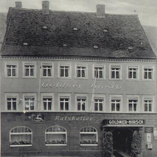 Goldner Hirsch Kamenz damals